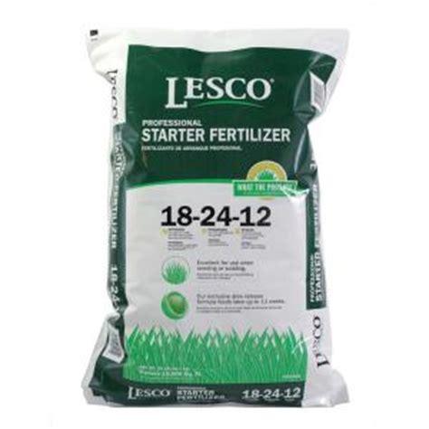 lesco  lb    starter fertilizer   home