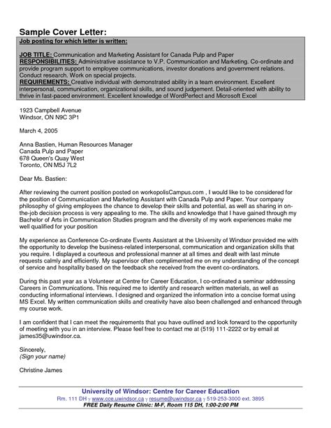 cover letter for federal government sle cover letter for government application