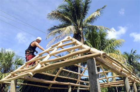 tiki hut roof construction tiki huts often violate zoning in south florida