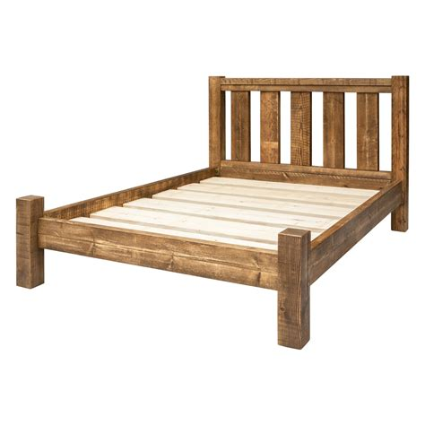 bed frame slatted headboard funky chunky furniture