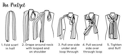 printable instructions to tie a scarf six ways to tie a scarf scarf tying guide lisa angel