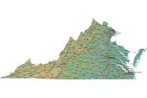 Map Virginia by Detailed Virginia Map Va Terrain Map