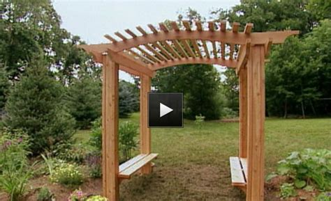 Garden Arbor How To Build How To Build A Wood Arbor For Garden Or Yard Apps