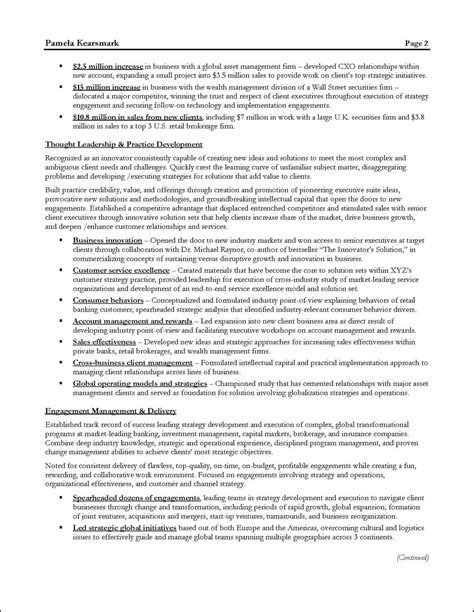 management consulting resume example for executive - Sports Consultant Sample Resume