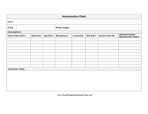 Records Free Free Printable Immunization Record