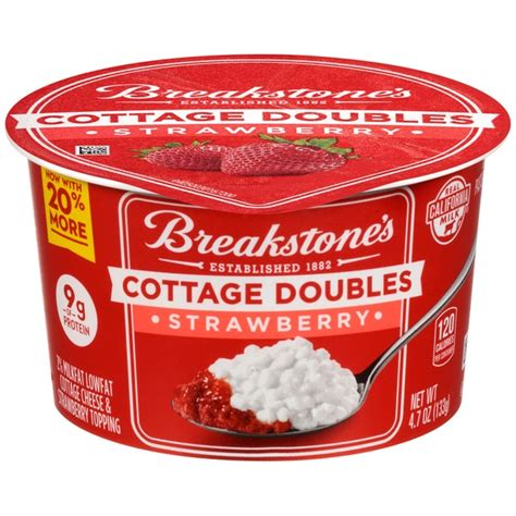 toppings for cottage cheese breakstone s cottage doubles strawberry cottage cheese topping from costco instacart