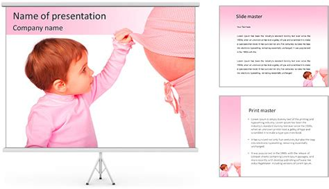 pregnancy template pregnancy powerpoint template backgrounds id 0000006667
