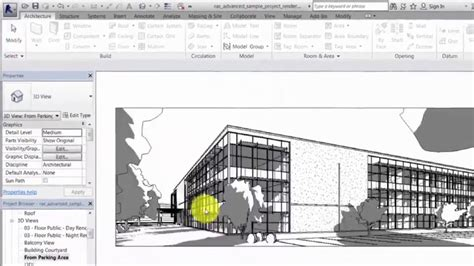 Revit 2017 12 revit 2017 new feature rendering a view with sunlight