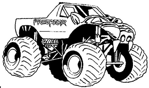 coloring pictures monster jam trucks predator monster truck kids coloring pages pinterest