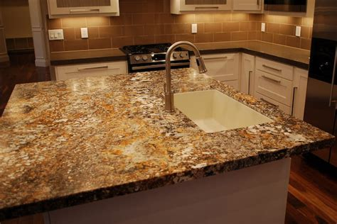 Unpolished Granite Countertops by Kitchen Island With Granite Countertop