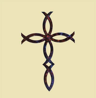 amazon com metal wall hanging large ichthys ichthus ichthus cross wall decorations home design and decor reviews