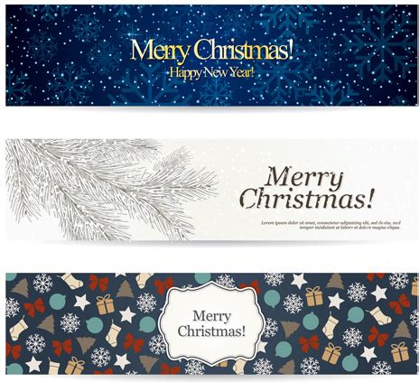 hairstyle banner design shiny christmas style banner design vector free vector in