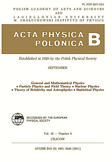 acta crystallographica section f impact factor acta physica polonica b scitecard
