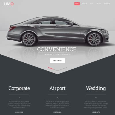 Web Site Templates Web Page Templates Car Service Website Template