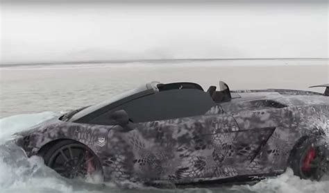 Lamborghini In Water Lamborghini Gallardo Performante Goes Swimming In Lake