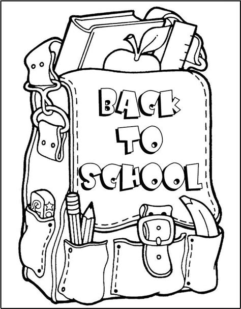 Backpack Coloring Pages Coloring Home Backpack Coloring Pages