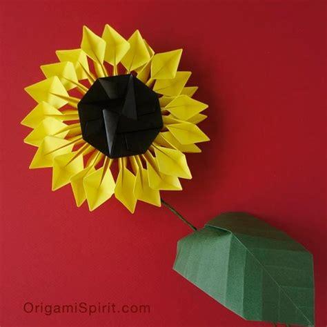 Origami Sunflower - origami sunflower 2 bring and happiness to your