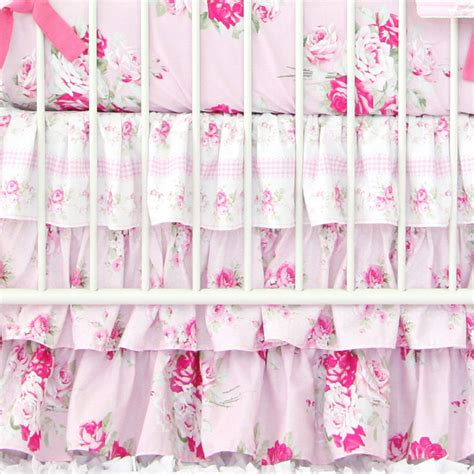 shabby chic roses crib sheet by caden