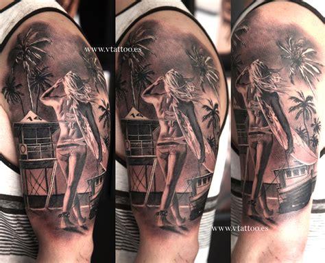 tattoo girl beach beach tattoo tatuaje paisaje playa miguel bohigues