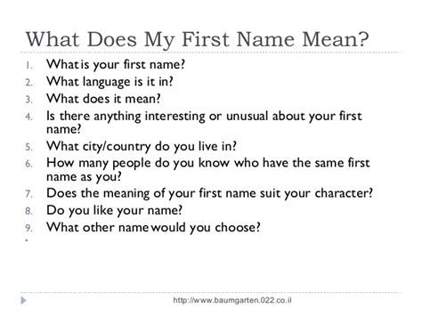mean names meaning of first names