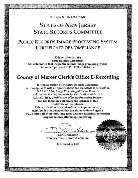 Mercer County New Jersey Property Records Mercer County