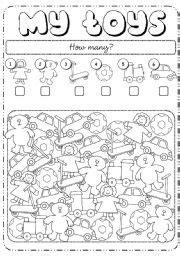 english worksheet how many toys angļu valoda english