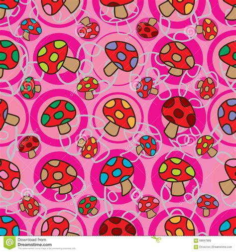 svg pattern rotate mushroom whole rotate seamless pattern stock vector
