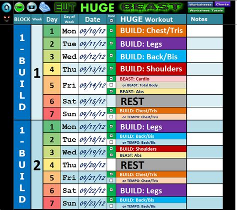 body beast 171 excel workout tools