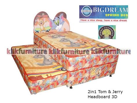 Bed Bigland Karakter harga springbed bigdream 2in1 tom jerry 3d diskon promosi