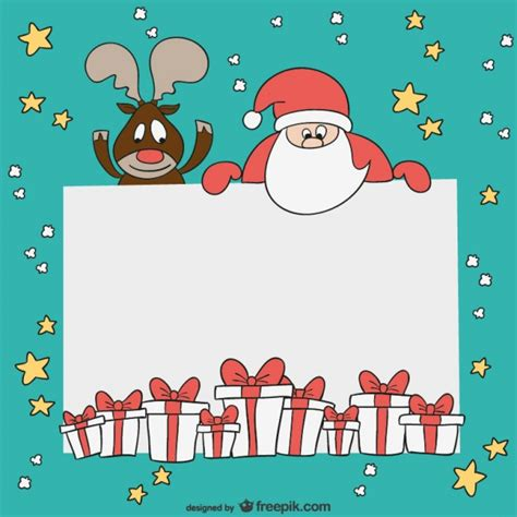 free santa card templates card template vector free