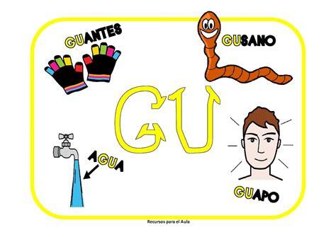imagenes que empiecen con la letra ga el rinc 243 n de la educadora preescolar carteles ga go gu