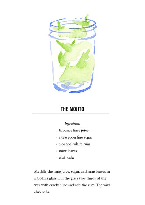 cocktail recipe cards mojito cocktail recipe card postcard back buy all 12