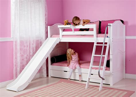 girls loft bed with slide loft beds for girls with slide www imgkid com the