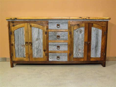 barn wood buffet four drawer barn wood furniture
