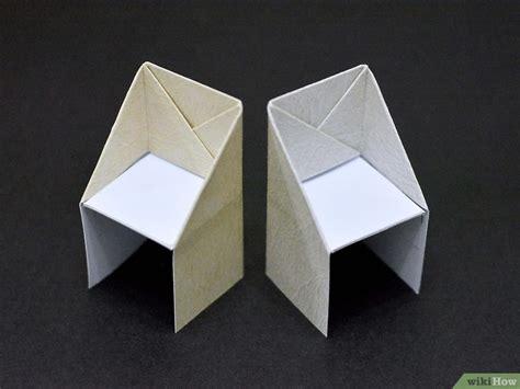 stuhl basteln einen origami stuhl basteln wikihow