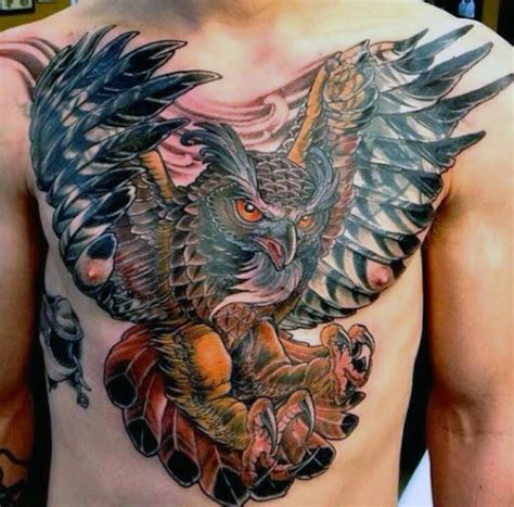 owl tattoo gang 70 owl tattoos for men creature of the night designs