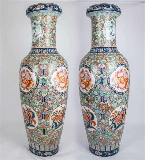 asian vases superb pair porcelain palace floor