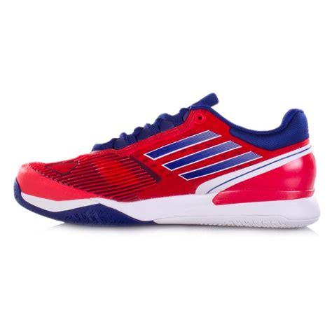adidas adizero feather ii s tennis shoes blue white