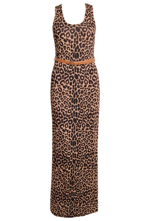 Maxi Free Belt leopard print maxi dress with free belt