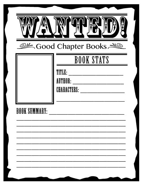 book report wanted poster template book report for 2nd grade worksheets search 2nd