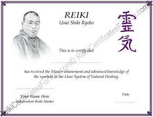reiki certificates for you