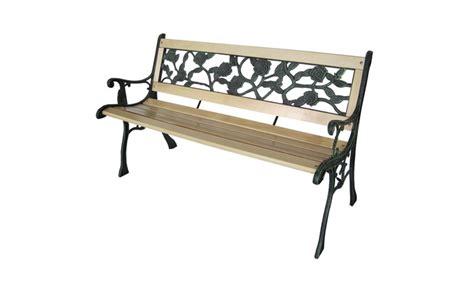 panchina esterno panchina da esterno in legno groupon goods