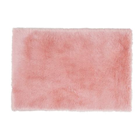 tappeto rosa tappeto in finta pelliccia rosa 120 x 180 cm blush