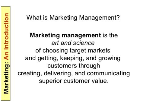 What Is Marketing Management In Mba by Introduction To Marketing Parakramesh Jaroli Mba