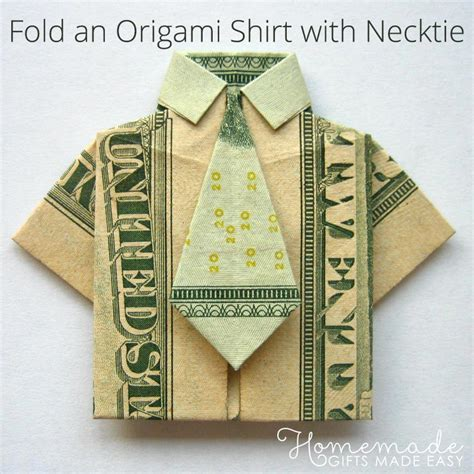Dollar Shirt Origami - money origami shirt and tie folding