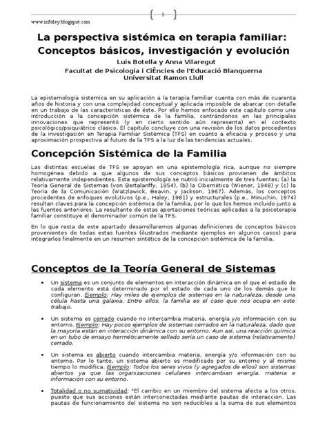 la perspectiva sistmica en terapia familiar conceptos la perspectiva sist 233 mica en terapia familiar por luis