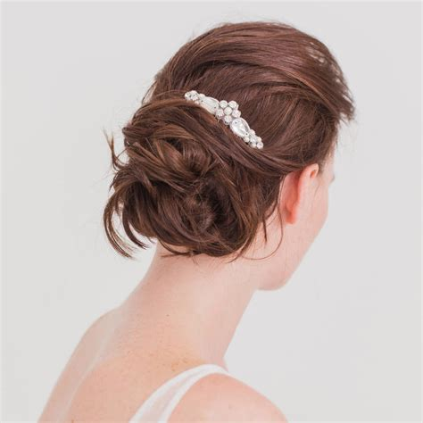 wedding hair comb with chains by britten weddings bridal hair comb crystal by britten weddings