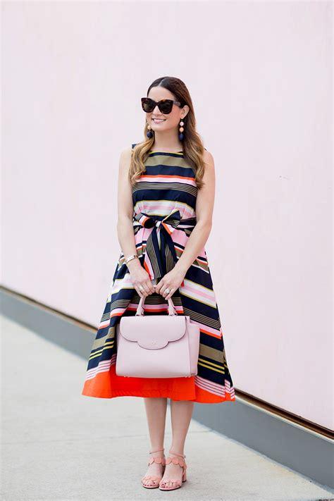 Finneah Stripes Flare Midi Dress multicolor stripe fit and flare midi dress