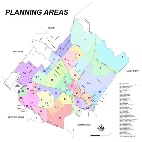 orange county usa map neighborhoods in orange county california