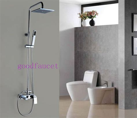 shower head for bathtub faucet modern rain shower faucet set 8 quot square shower head with bath tub faucet handheld